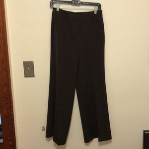 St. John Diana wide leg pant in chocolate brown